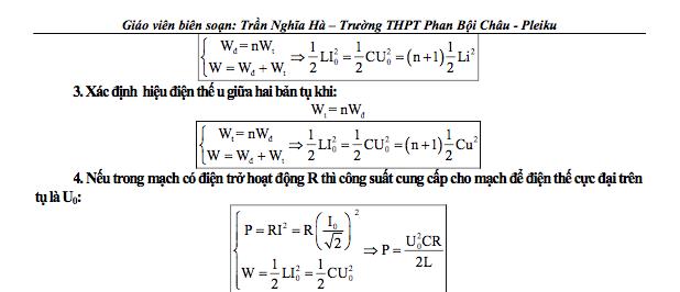 cong thuc dao dong va song dien tu vat ly 12 1 - Công thức Vật lý dao động và sóng điện từ Vật lý 12