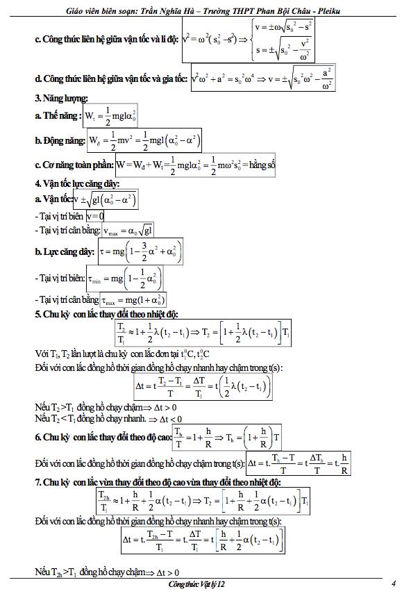 cong thuc vat ly lop 12 ve con lac don 1 - Công thức Vật lý lớp 12 về con lắc đơn