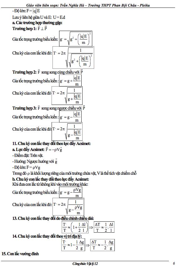 cong thuc vat ly lop 12 ve con lac don 3 - Công thức Vật lý lớp 12 về con lắc đơn