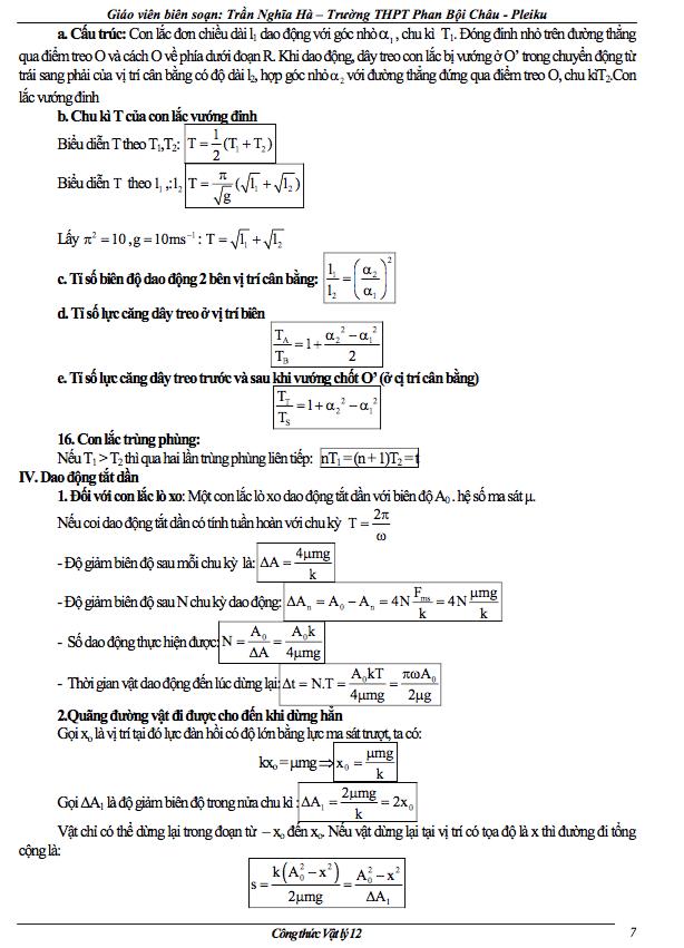 cong thuc vat ly lop 12 ve con lac don 4 - Công thức Vật lý lớp 12 về con lắc đơn