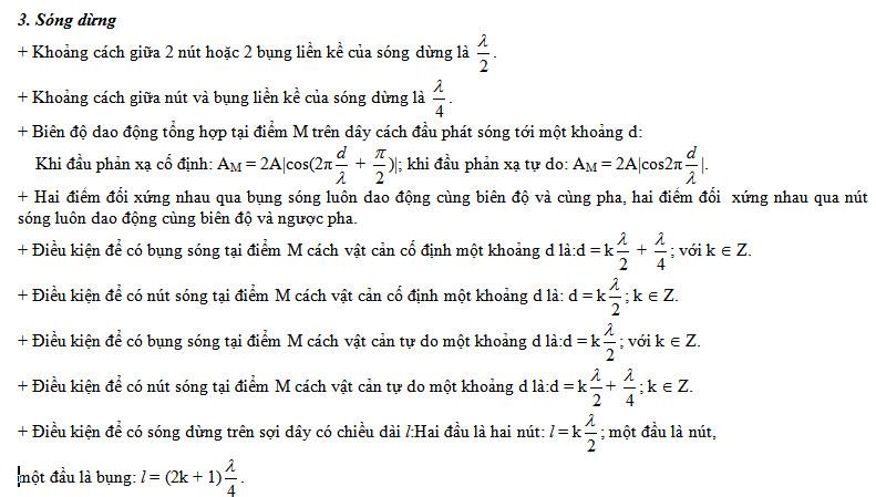 tong hop cac cong thuc vat ly ve song co va song am 2 - Tổng hợp các công thức Vật lý về sóng cơ và sóng âm